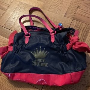 Black & Pink Juicy Couture Hand Bag